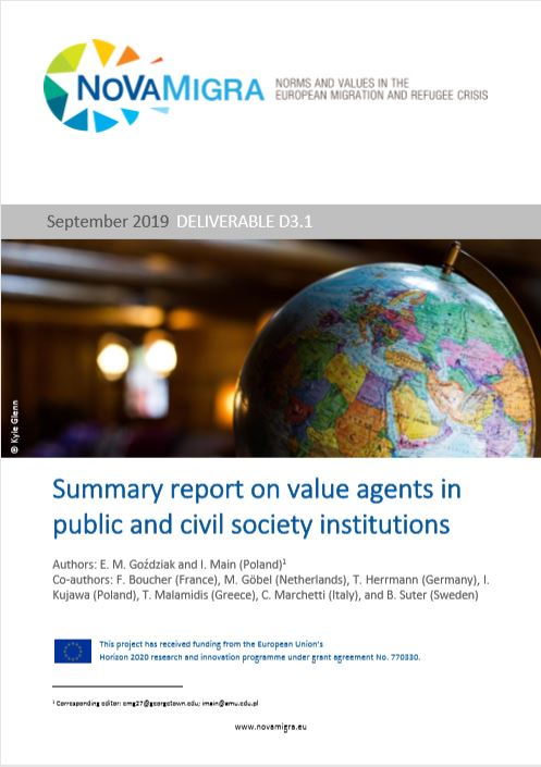 NoVaMigra D3.1 Summary Report on Value Agents in Public and Civil  Society Institutions_v1.0_DOI.pdf